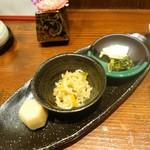 78283177 - 揚げ鶏和風ソースかけとチキン南蛮のハーフ&ハーフランチ(1,000円)、副菜
