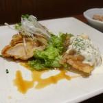 78283191 - 揚げ鶏和風ソースかけとチキン南蛮のハーフ&ハーフランチ(1,000円)