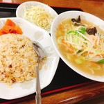 中華料理翔龍 - チャンポン定食(850円)