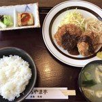 78285121 - 特製メンチ定食(¥680 税抜)