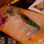 清力旅館 - 料理写真:イカの活き造り
