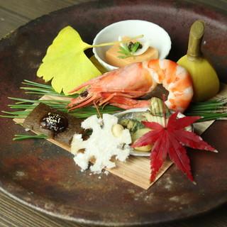 ◇旬菜・旬魚◇季節ごとに変わる日本料理の味は秀逸◎