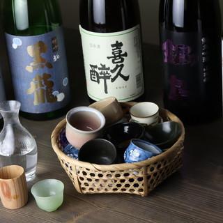 厳選した日本酒やワインとのペアリングも、ぜひお愉しみください