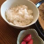 みろく - 御飯と漬物