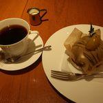 グラマシーニューヨークカフェ - 和栗モンブランとブレンドコーヒー