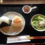 カフェ月星 - ちょっと食べセット ¥500 サラダは大きいのをサービスしてくれました。