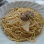 フィエスタ - 肉団子とタケノコのオリーブオイルパスタ