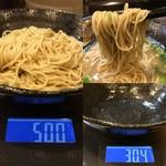 麺屋 五郎蔵 - 「替え玉」+110円〔博多麺 使用〕総重量(実測値)196g。
