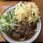 甲斐のうどん まる - 料理写真:肉天うどん