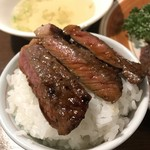 鎌田 - ご飯が進む濃いめのソースでステーキ丼