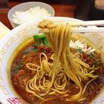 麺屋 さすらい - 咖喱らーめんの麺リフト