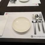 シンプルキッチン - テーブルセット