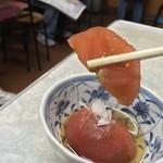 伊勢屋食堂 - 伊勢屋食堂(東京都新宿区北新宿) トマト酢漬 100円