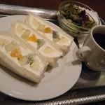 カフェ&バー ウミノ - ハーフサンドセット