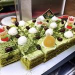 スイーツパラダイス - 抹茶と小豆のケーキ
