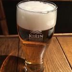 瓢六亭 - 生ビール