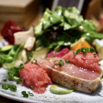 ヤナカ スギウラ - 冷たい前菜 ぶりのミスキュイ 厚いぶりにびっくり たっぷりいただけたお野菜も美味しい