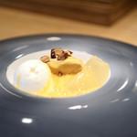ヤナカ スギウラ - キャラメルムースにミルクアイス オレンジソース