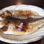 魚山亭 - 鯵の開き