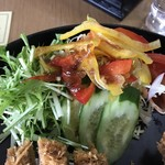 天瀬温泉カントリークラブ - こんな野菜サラダやったら食える
