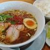 Raamenkagetsuarashitachikawanishisunaten - 料理写真:限定/THE淡麗醤油ラーメン石神SPECIAL´S+ライスW+キャベツ