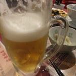 広東飯店 美香園 - ビール(540円)※飲みかけ