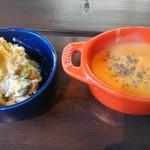 カフェ ノイックス - ポテサラとスープ