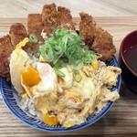 いわいたけし丼 - 「厚切りロースカツ丼(並)」790円也+税。