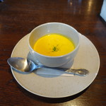 ブレッツカフェ クレープリー ル コントワール - カボチャのスープ(+200円)