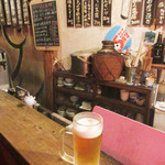 カドヤ - 生ビール500円(2017.11月下旬)