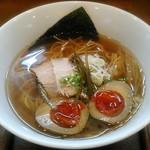 麺ゃ しき - 【醤油しき麺 + 濃厚玉子】¥700 + ¥100