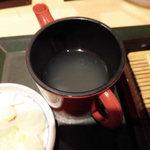 国産二八蕎麦 蕎香 - 蕎麦湯