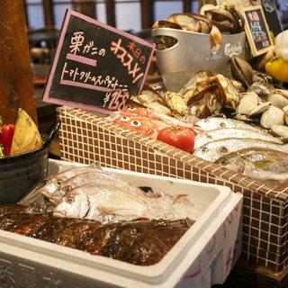 当日入荷した新鮮な魚介をお好みで!