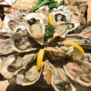 新鮮な牡蠣が1個150円~!