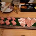 上州和牛専門店 ぐんま育ち - 塩焼き(牛タン・豚ロース)
