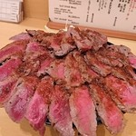 the肉丼の店 - やわらかランプステーキ丼   メガ     ¥1700