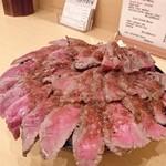 the肉丼の店 - やわらかランプステーキ丼   メガ