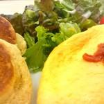 幸せのパンケーキ - パンケーキ&ふわとろオムレツ