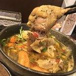 薬膳スープカレー・シャナイア - 薬膳スープカレー・シャナイア(東京都目黒区三田) チキンと野菜のスープカレー・いももち(北海道の郷土料理)2ピース
