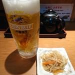 とんかつせんのき - 2017年12月 生ビール 500円+税