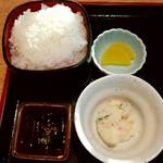 78357099 - 定食のライス+小鉢