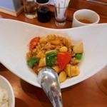 シーアン - 鶏ももの魚香ソース炒めアップ