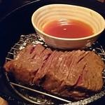 燻製キッチン - 燻製後♪黒毛和牛モモ肉の瞬間燻製