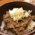 中華そば うえまち - 黒豚味噌ご飯は女子でシェアしました