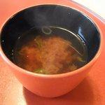 はり清 - 味噌汁('11.05)