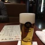 78360179 - 生ビール(サッポロ黒ラベル)