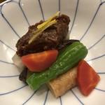 割烹 とよだ - 野菜とお麩の味噌田楽風