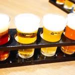 白雪ブルワリーレストラン長寿蔵 - 「KONISHIビール」テイスティングセット