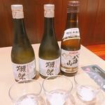 78364319 - クーポン利用で無料と化した獺祭純米大吟醸と八海山特別本醸造
