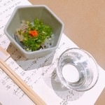 かに・ふぐ料理 玄品 - ふく皮湯引きと獺祭 純米大吟醸